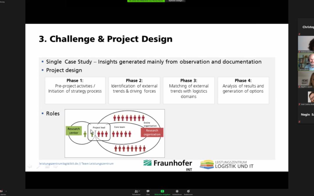 Leistungszentrum Logistik und IT präsentiert virtuell auf der ICE Conference Paper zum Forschungslandkartenprozess